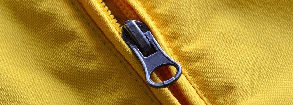 giubbotto giallo con cerniera zip